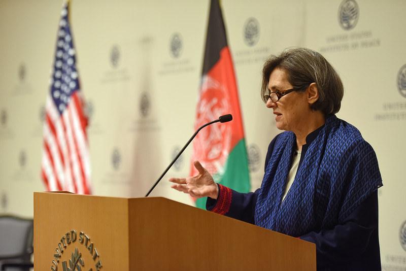 Rula Ghani bij US Institute of Peace 2016